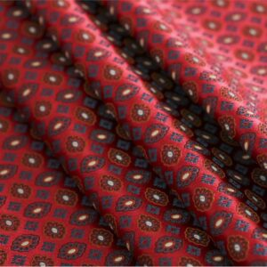 Red Silk Tie Jacquard fabric for Ceremony Dress, Dress, Light Coat, Pants.