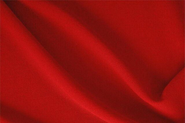 Fire Red Wool Crêpe Plain fabric for Dress, Jacket, Light Coat, Pants, Skirt.