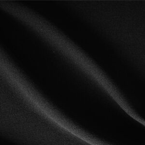 Black Wool Crêpe Plain fabric for Dress, Jacket, Light Coat, Pants, Skirt.