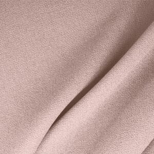 Confetto Pink Wool Double Crêpe Plain fabric for Ceremony Dress, Dress, Jacket, Light Coat, Pants, Party dress, Skirt.