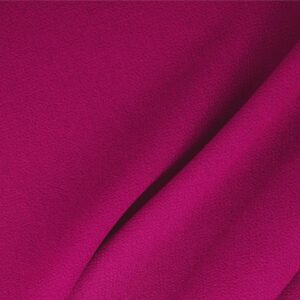 Cyclamen Fuxia Wool Double Crêpe Plain fabric for Ceremony Dress, Dress, Jacket, Light Coat, Pants, Party dress, Skirt.