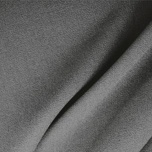Smoke Gray Wool Double Crêpe Plain fabric for Ceremony Dress, Dress, Jacket, Light Coat, Pants, Party dress, Skirt.