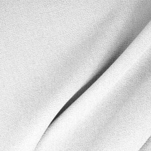 Ottico White Wool Double Crêpe Plain fabric for Ceremony Dress, Dress, Jacket, Light Coat, Pants, Party dress, Skirt.