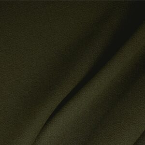 Abete Green Wool Double Crêpe Plain fabric for Ceremony Dress, Dress, Jacket, Light Coat, Pants, Party dress, Skirt.