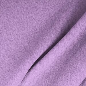 Wisteria Purple Wool Double Crêpe Plain fabric for Ceremony Dress, Dress, Jacket, Light Coat, Pants, Party dress, Skirt.