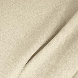 Latte White Wool Double Crêpe Plain fabric for Ceremony Dress, Dress, Jacket, Light Coat, Pants, Party dress, Skirt.