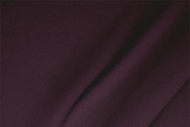 Dark Purple Wool Double Crêpe Plain fabric for Ceremony Dress, Dress, Jacket, Light Coat, Pants, Party dress, Skirt.