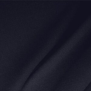 Navy Blue Wool Double Crêpe Plain fabric for Ceremony Dress, Dress, Jacket, Light Coat, Pants, Party dress, Skirt.