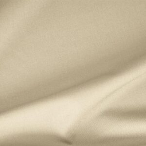 Latte White Polyester, Stretch, Wool Gabardine Stretch Plain fabric for Dress, Jacket, Pants, Skirt.