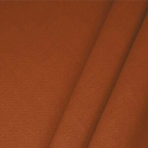 Mattone Brown Linen Blend Plain fabric for Dress, Jacket, Light Coat, Pants, Skirt.