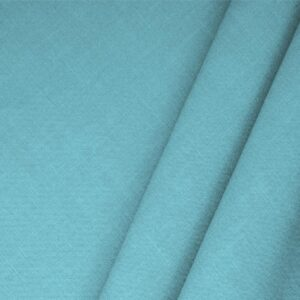 Turchese Blue Linen Blend Plain fabric for Dress, Jacket, Light Coat, Pants, Skirt.