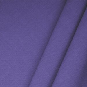 Iris Purple Linen Blend Plain fabric for Dress, Jacket, Light Coat, Pants, Skirt.