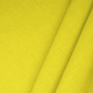 Limone Yellow Linen Blend Plain fabric for Dress, Jacket, Light Coat, Pants, Skirt.