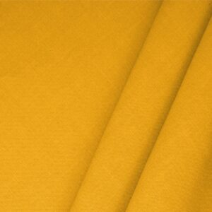 Girasole Yellow Linen Blend Plain fabric for Dress, Jacket, Light Coat, Pants, Skirt.