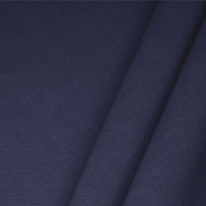 Denim Blue Linen Blend Plain fabric for Dress, Jacket, Light Coat, Pants, Skirt.