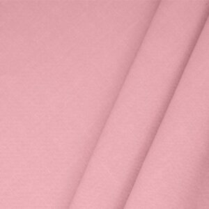 Baby Pink Linen Blend Plain fabric for Dress, Jacket, Light Coat, Pants, Skirt.