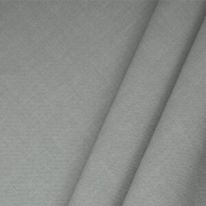 Acciaio Gray Linen Blend Plain fabric for Dress, Jacket, Light Coat, Pants, Skirt.