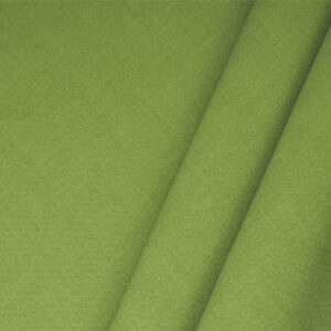 Erba Green Linen Blend Plain fabric for Dress, Jacket, Light Coat, Pants, Skirt.