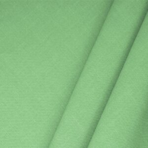 Maldive Green Linen Blend Plain fabric for Dress, Jacket, Light Coat, Pants, Skirt.