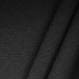 Tissu Uni Mélange de lin Noir en pour Jupe, Pantalon, Robe, Veste, Veste-Manteau légère.