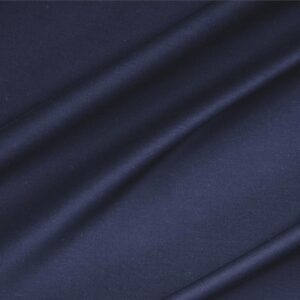 Denim Blue Lightweight cotton sateen stretch Plain fabric for Dress, Jacket, Light Coat, Pants, Skirt.