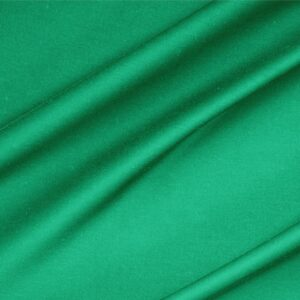 Bandiera Green Lightweight cotton sateen stretch Plain fabric for Dress, Jacket, Light Coat, Pants, Skirt.