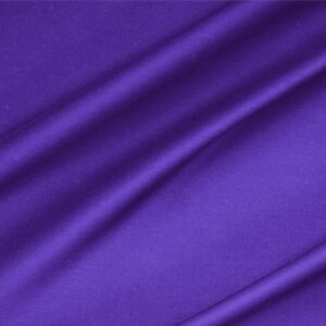 Iris Purple Lightweight cotton sateen stretch Plain fabric for Dress, Jacket, Light Coat, Pants, Skirt.