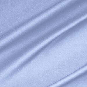 Fonte Blue Lightweight cotton sateen stretch Plain fabric for Dress, Jacket, Light Coat, Pants, Skirt.