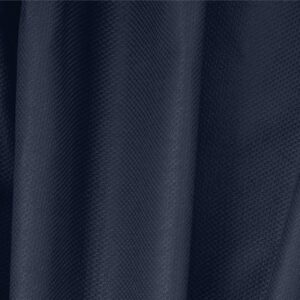 Denim Blue Cotton, Stretch Pique Stretch Plain fabric for Dress, Jacket, Light Coat, Pants, Skirt.