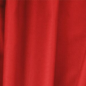 Fuoco Red Cotton, Stretch Pique Stretch Plain fabric for Dress, Jacket, Light Coat, Pants, Skirt.