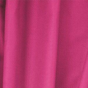 Tessuto Unito Piquet Stretch Fucsia in Cotone, Stretch per Abito, Giacca, Gonna, Pantalone, Spolverino.