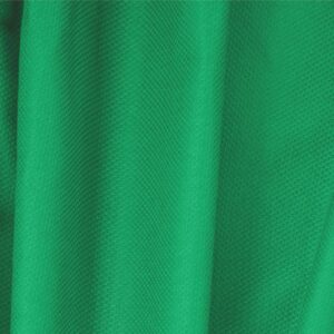 Bandiera Green Cotton, Stretch Pique Stretch Plain fabric for Dress, Jacket, Light Coat, Pants, Skirt.