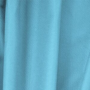 Turchese Blue Cotton, Stretch Pique Stretch Plain fabric for Dress, Jacket, Light Coat, Pants, Skirt.