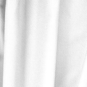 Ottico White Cotton, Stretch Pique Stretch Plain fabric for Dress, Jacket, Light Coat, Pants, Skirt.