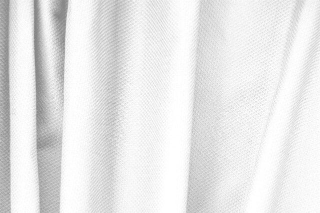 Tessuto Piquet di Cotone Bianco Ottico per abbigliamento
