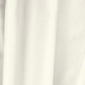 Avorio White Cotton, Stretch Pique Stretch Plain fabric for Dress, Jacket, Light Coat, Pants, Skirt.