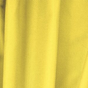 Lemon Yellow Cotton, Stretch Pique Stretch Plain fabric for Dress, Jacket, Light Coat, Pants, Skirt.
