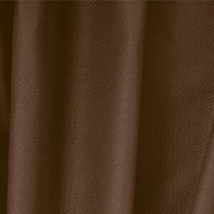 Cacao Brown Cotton, Stretch Pique Stretch Plain fabric for Dress, Jacket, Light Coat, Pants, Skirt.