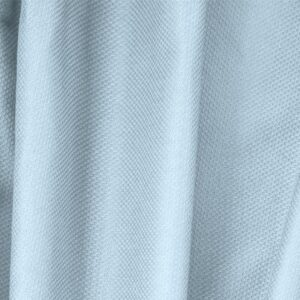 Capri Blue Cotton, Stretch Pique Stretch Plain fabric for Dress, Jacket, Light Coat, Pants, Skirt.