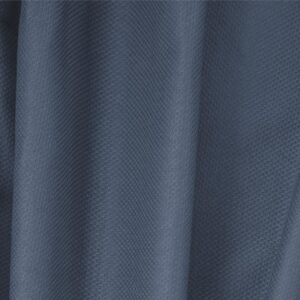 Avio Blue Cotton, Stretch Pique Stretch Plain fabric for Dress, Jacket, Light Coat, Pants, Skirt.