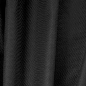 Black Cotton, Stretch Pique Stretch Plain fabric for Dress, Jacket, Light Coat, Pants, Skirt.