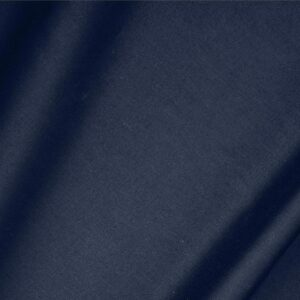 Denim Blue Cotton sateen stretch Plain fabric for Dress, Jacket, Light Coat, Pants, Skirt.