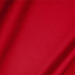 Fuoco Red Cotton sateen stretch Plain fabric for Dress, Jacket, Light Coat, Pants, Skirt.