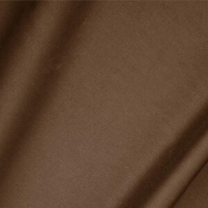 Cocoa Brown Cotton sateen stretch Plain fabric for Dress, Jacket, Light Coat, Pants, Skirt.