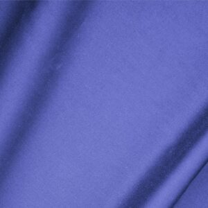 Zaffiro Blue Cotton sateen stretch Plain fabric for Dress, Jacket, Light Coat, Pants, Skirt.
