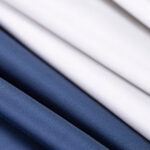 Pearl silver stretch cotton satin fabric | new tess