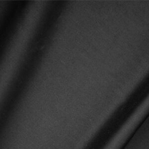 Black Cotton sateen stretch Plain fabric for Dress, Jacket, Light Coat, Pants, Skirt.