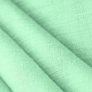 Acqua Marina Green Linen Canvas Plain fabric for Dress, Jacket, Pants, Shirt, Skirt.
