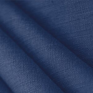 Royal Blue Linen Canvas Plain fabric for Dress, Jacket, Pants, Shirt, Skirt.