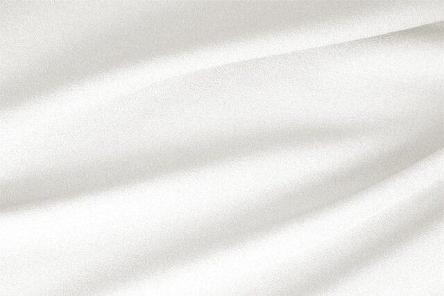 Tessuto Lana Stretch Bianco Ottico per abbigliamento